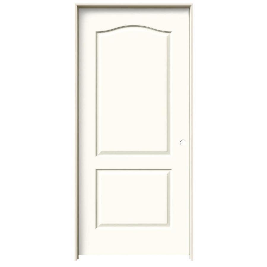 JELD-WEN White Prehung Solid Core 2-Panel Arch Top Interior Door (Common: 36-in x 80-in; Actual: 37.562-in x 81.688-in)