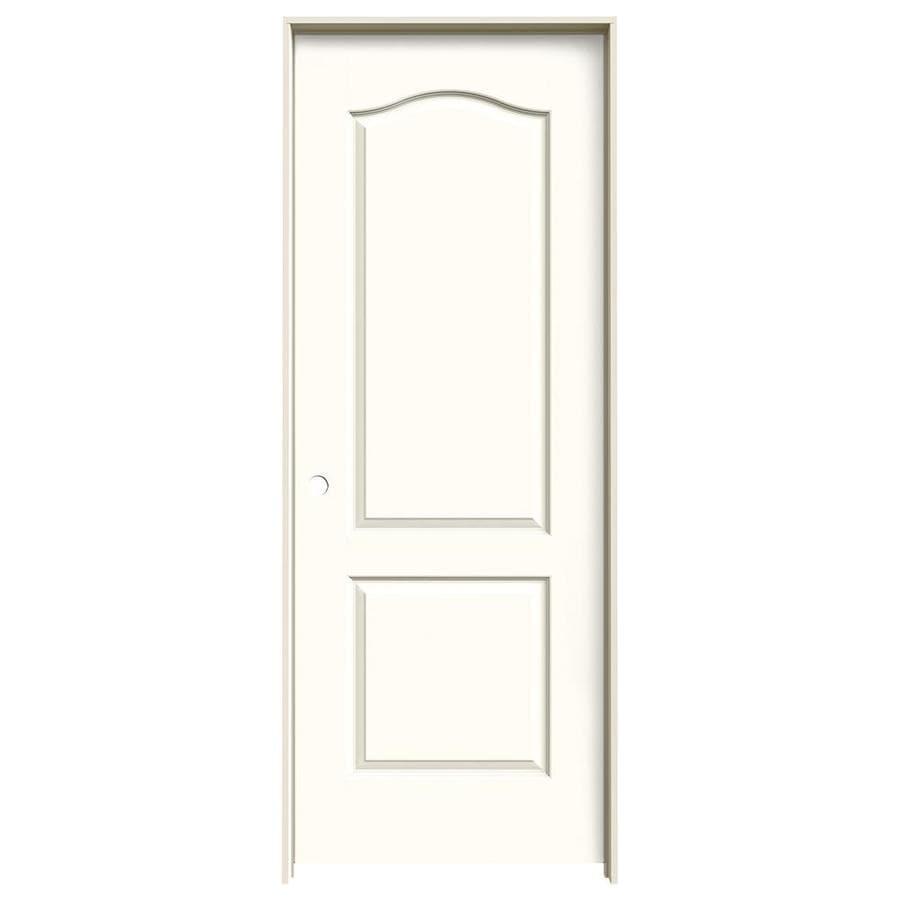 JELD-WEN Moonglow Prehung Solid Core 2-Panel Arch Top Interior Door (Common: 28-in x 80-in; Actual: 29.562-in x 81.688-in)
