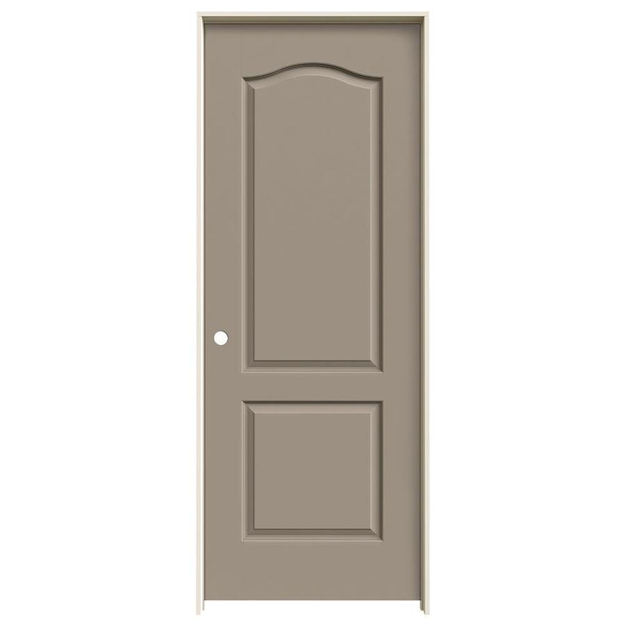JELD-WEN Sand Piper Prehung Solid Core 2-Panel Arch Top Interior Door (Common: 28-in x 80-in; Actual: 29.562-in x 81.688-in)