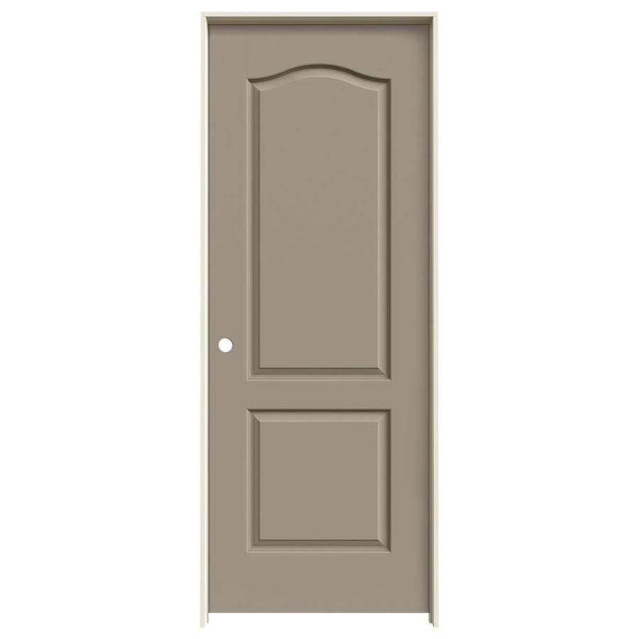 JELD-WEN Sand Piper Prehung Solid Core 2-Panel Arch Top Interior Door (Common: 30-in x 80-in; Actual: 31.562-in x 81.688-in)