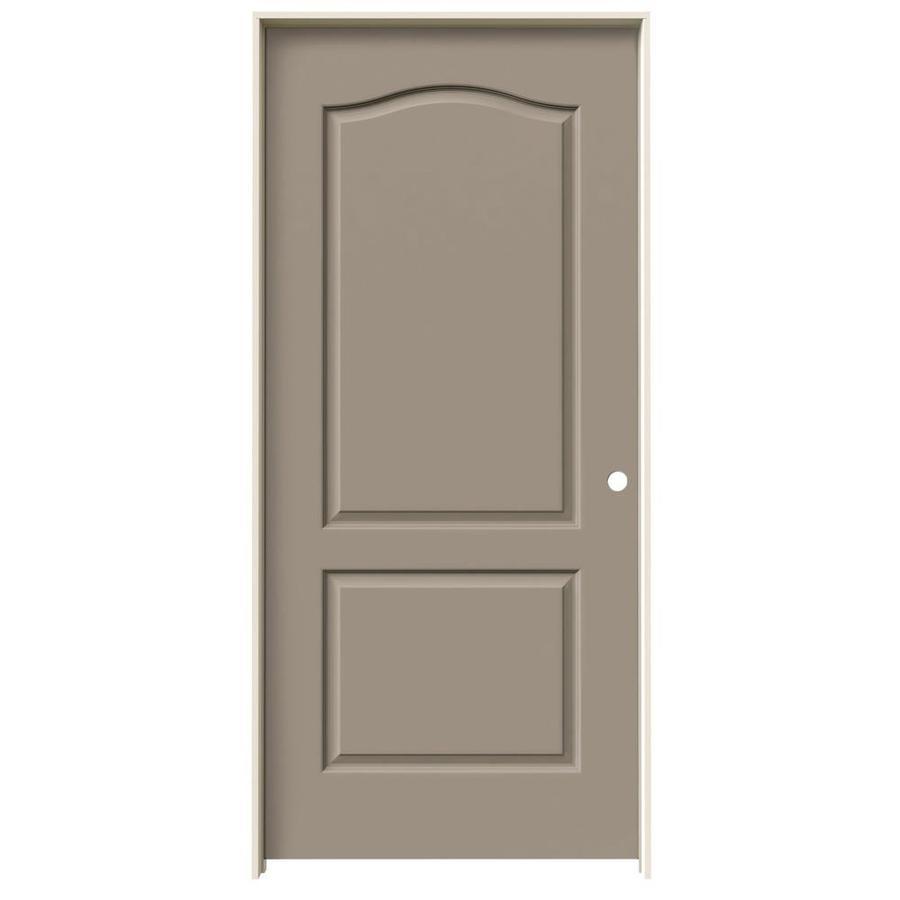 JELD-WEN Sand Piper Prehung Solid Core 2-Panel Arch Top Interior Door (Common: 36-in x 80-in; Actual: 37.562-in x 81.688-in)