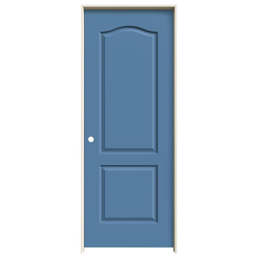 JELD-WEN Blue Heron Prehung Solid Core 2-Panel Arch Top Interior Door (Common: 28-in x 80-in; Actual: 29.562-in x 81.688-in)