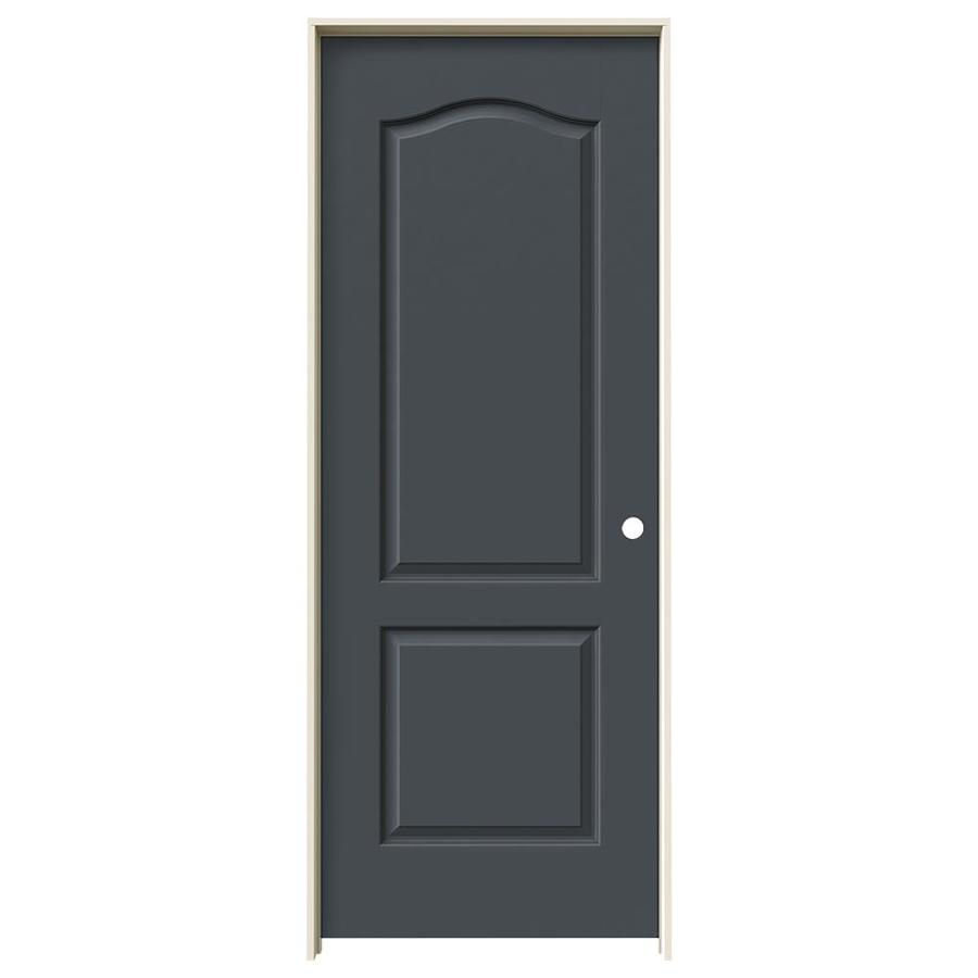 JELD-WEN Slate Prehung Solid Core 2-Panel Arch Top Interior Door (Common: 28-in x 80-in; Actual: 29.562-in x 81.688-in)