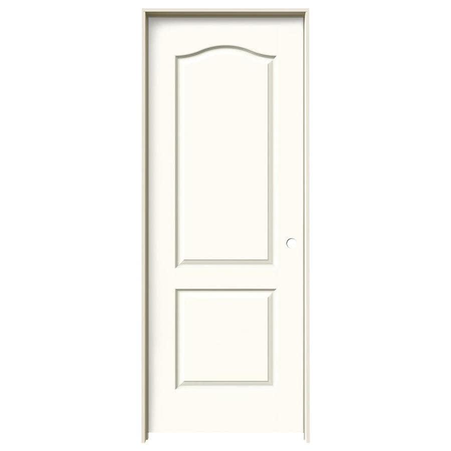 JELD-WEN White Prehung Hollow Core 2-Panel Arch Top Interior Door (Common: 28-in x 80-in; Actual: 29.562-in x 81.688-in)