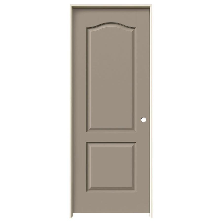 JELD-WEN Sand Piper Prehung Hollow Core 2-Panel Arch Top Interior Door (Common: 30-in x 80-in; Actual: 31.562-in x 81.688-in)