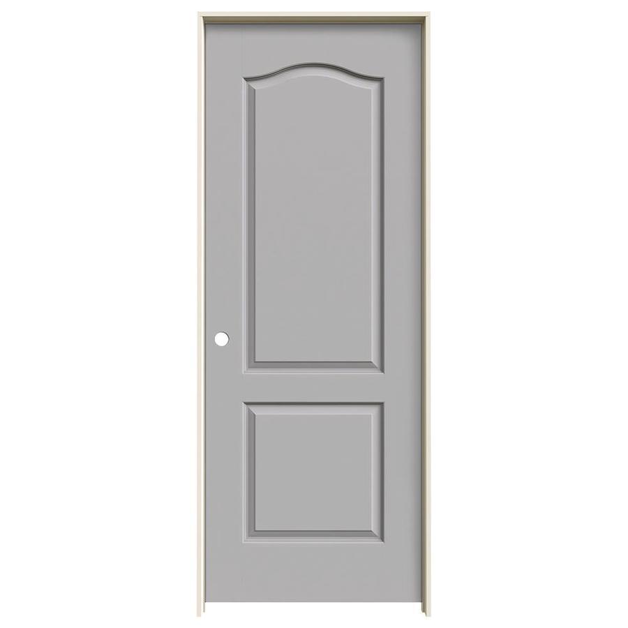 JELD-WEN Driftwood Prehung Hollow Core 2-Panel Arch Top Interior Door (Common: 24-in x 80-in; Actual: 25.562-in x 81.688-in)