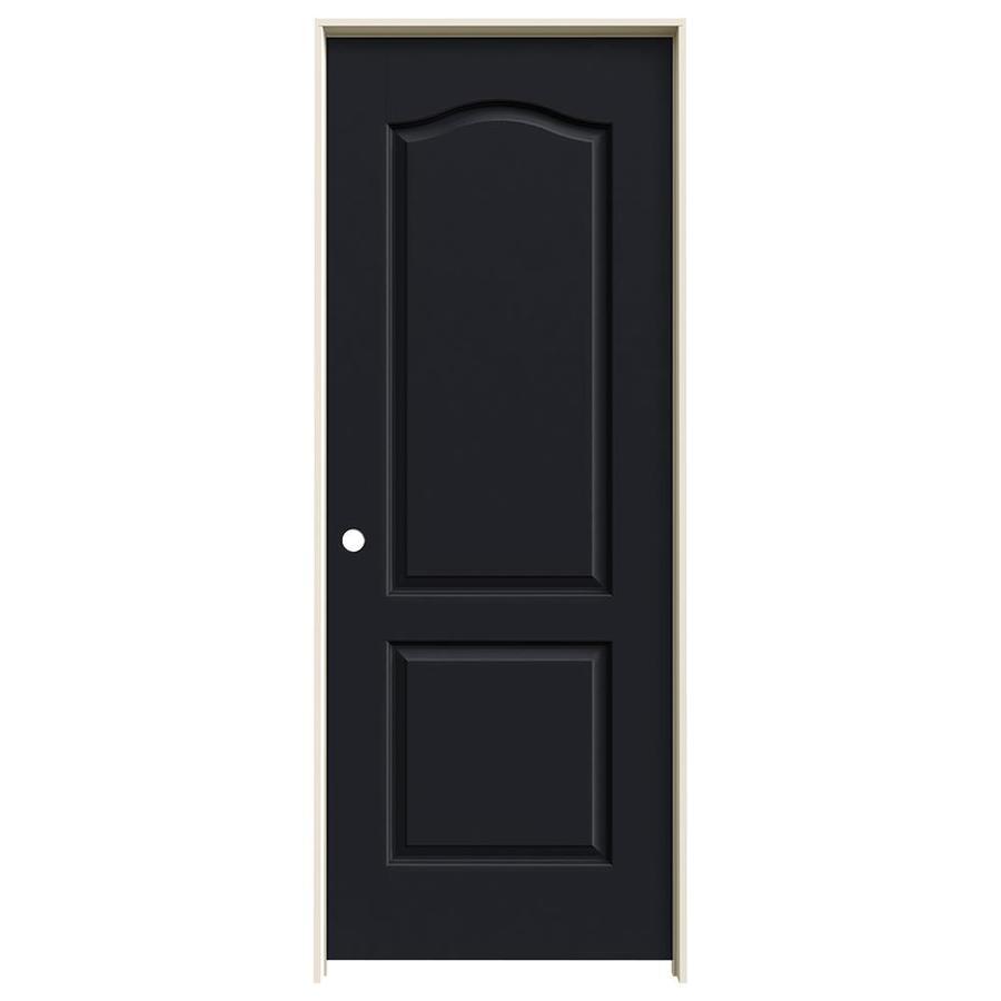 JELD-WEN Midnight Prehung Hollow Core 2-Panel Arch Top Interior Door (Common: 32-in x 80-in; Actual: 33.562-in x 81.688-in)