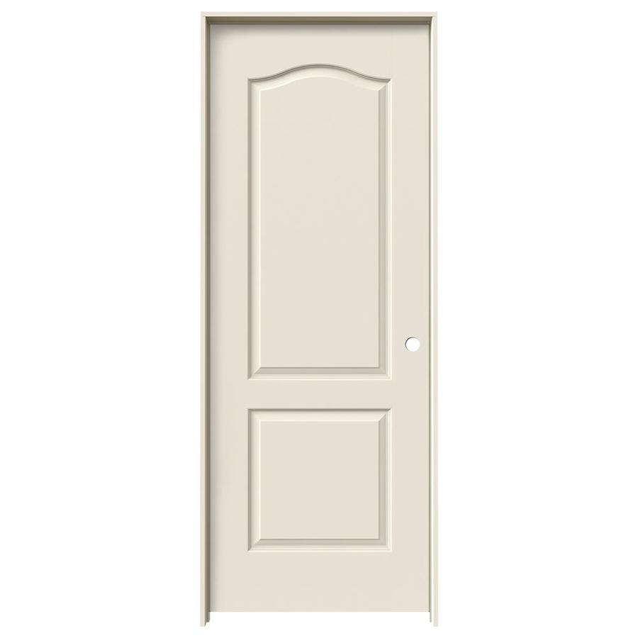 JELD-WEN Prehung Hollow Core 2-Panel Arch Top Interior Door (Common: 32-in x 80-in; Actual: 33.562-in x 81.688-in)