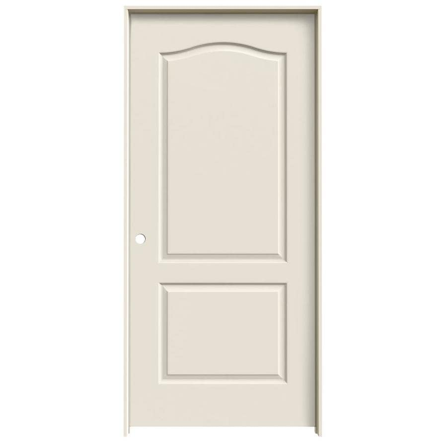 JELD-WEN Prehung Hollow Core 2-Panel Arch Top Interior Door (Common: 36-in x 80-in; Actual: 37.562-in x 81.688-in)