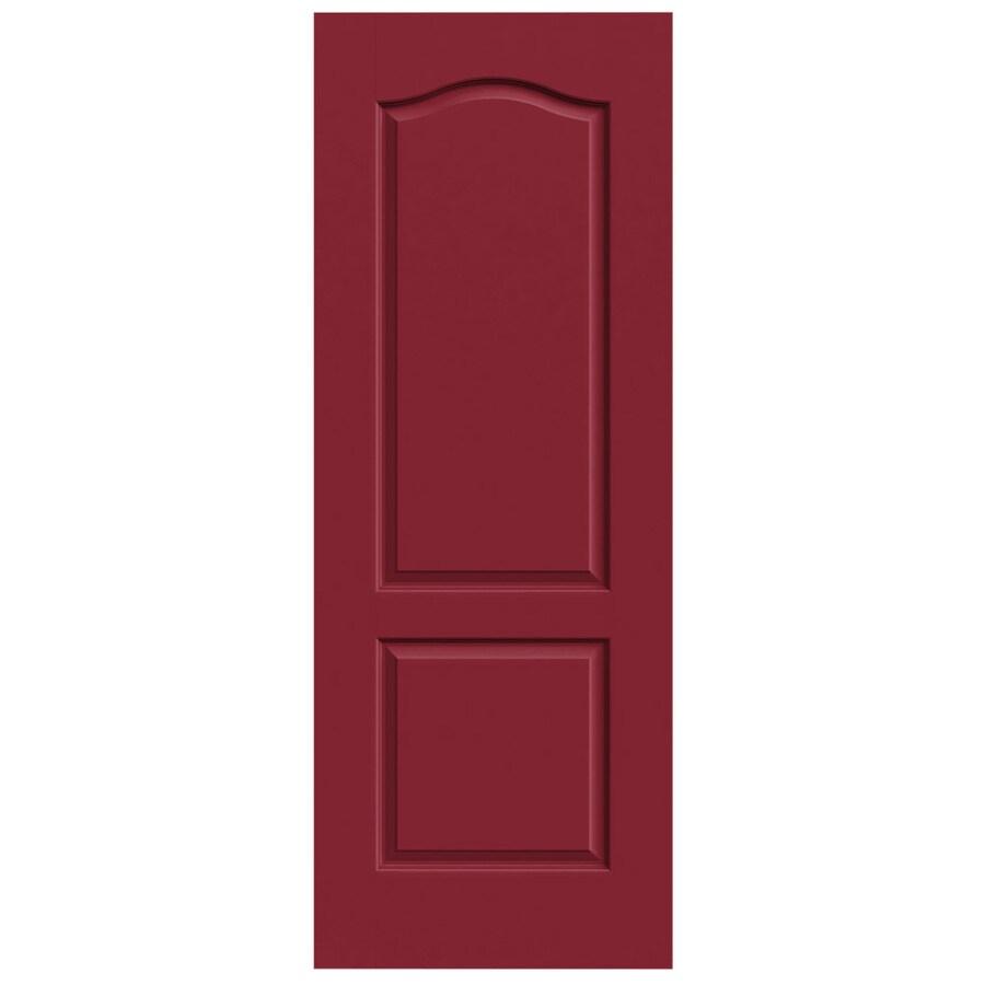 JELD-WEN Barn Red Hollow Core 2-Panel Arch Top Slab Interior Door (Common: 24-in x 80-in; Actual: 24-in x 80-in)