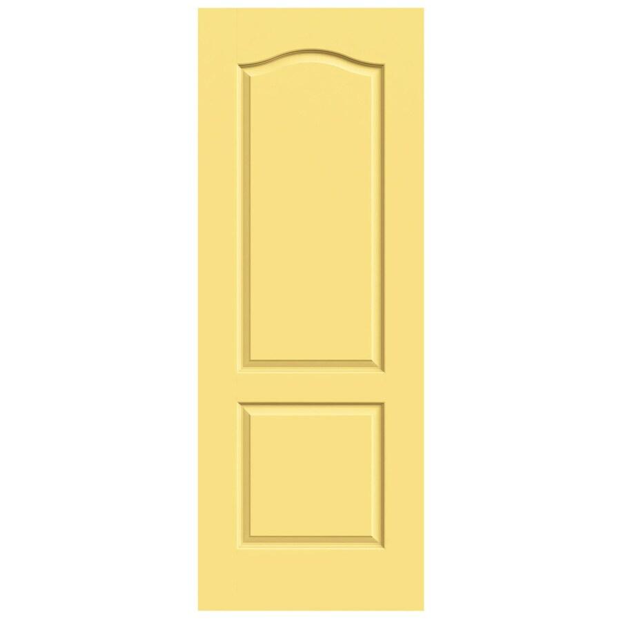 JELD-WEN Marigold Hollow Core 2-Panel Arch Top Slab Interior Door (Common: 28-in x 80-in; Actual: 28-in x 80-in)