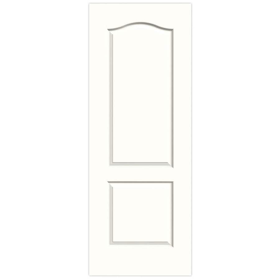 JELD-WEN Snow Storm Solid Core 2-Panel Arch Top Slab Interior Door (Common: 24-in x 80-in; Actual: 24-in x 80-in)