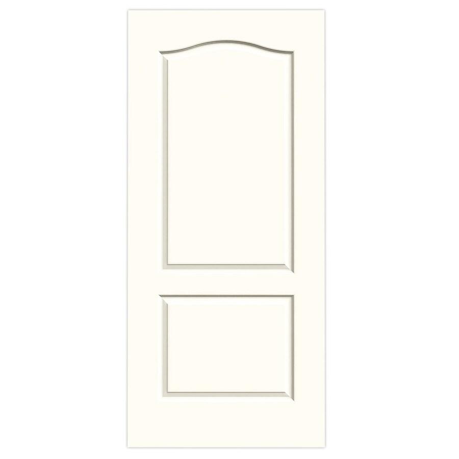 JELD-WEN Moonglow Solid Core 2-Panel Arch Top Slab Interior Door (Common: 36-in x 80-in; Actual: 36-in x 80-in)