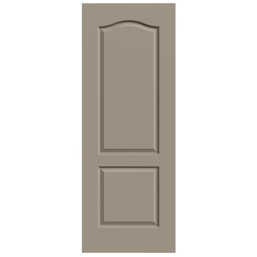 JELD-WEN Sand Piper Solid Core 2-Panel Arch Top Slab Interior Door (Common: 32-in x 80-in; Actual: 32-in x 80-in)