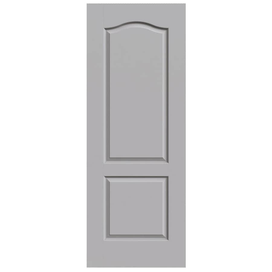 JELD-WEN Driftwood Solid Core 2-Panel Arch Top Slab Interior Door (Common: 30-in x 80-in; Actual: 30-in x 80-in)
