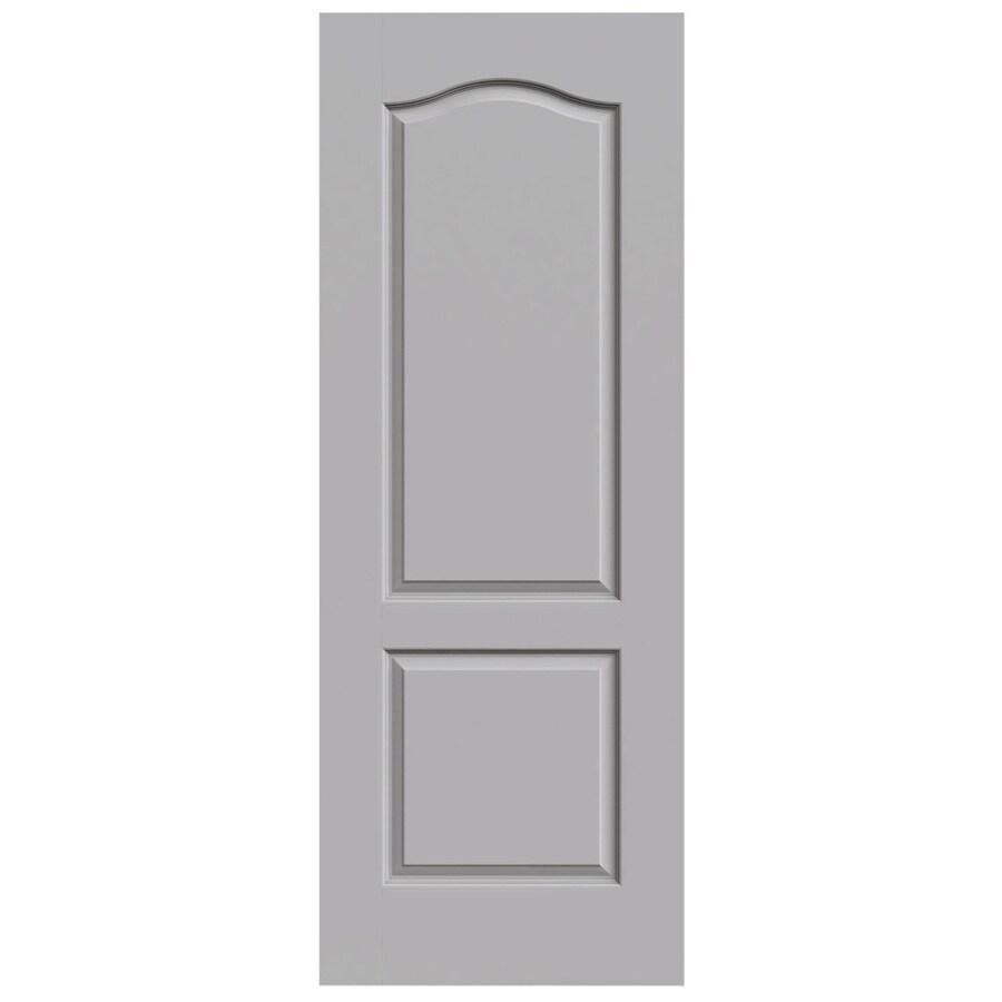 JELD-WEN Driftwood Solid Core 2-Panel Arch Top Slab Interior Door (Common: 32-in x 80-in; Actual: 32-in x 80-in)