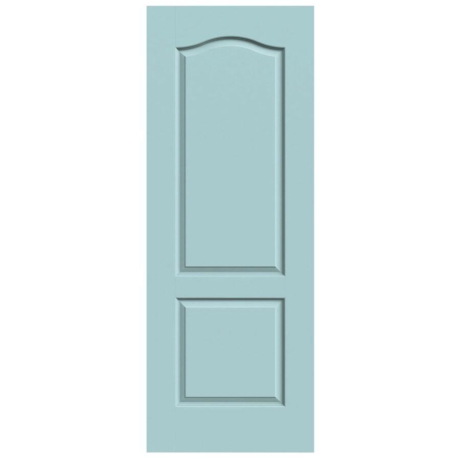 JELD-WEN Sea Mist Solid Core 2-Panel Arch Top Slab Interior Door (Common: 28-in x 80-in; Actual: 28-in x 80-in)