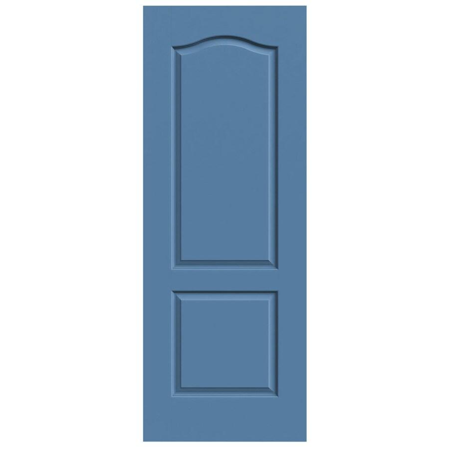 JELD-WEN Blue Heron Solid Core 2-Panel Arch Top Slab Interior Door (Common: 28-in x 80-in; Actual: 28-in x 80-in)