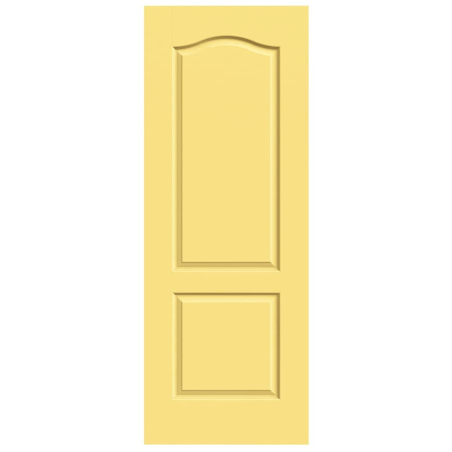 JELD-WEN Marigold Solid Core 2-Panel Arch Top Slab Interior Door (Common: 24-in x 80-in; Actual: 24-in x 80-in)