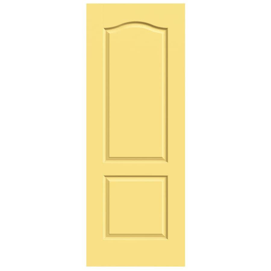 JELD-WEN Marigold Solid Core 2-Panel Arch Top Slab Interior Door (Common: 32-in x 80-in; Actual: 32-in x 80-in)