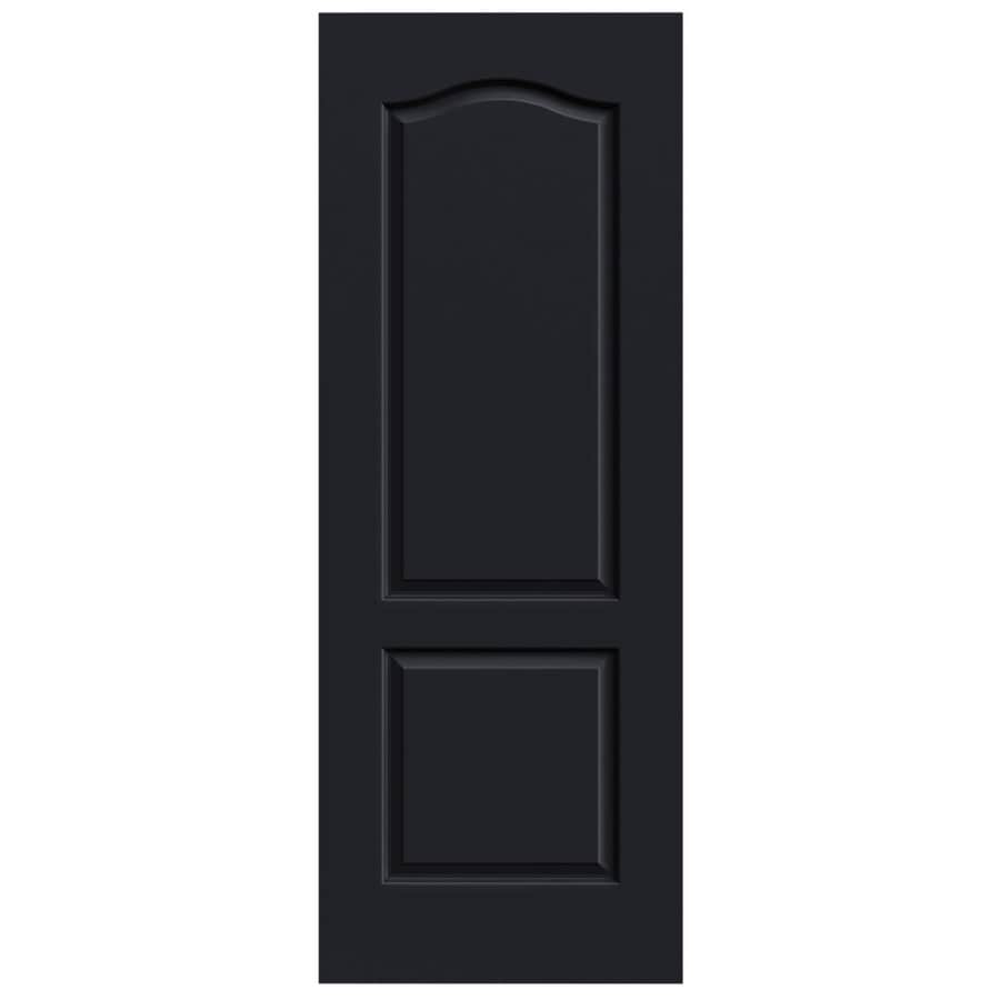 JELD-WEN Midnight Solid Core 2-Panel Arch Top Slab Interior Door (Common: 28-in x 80-in; Actual: 28-in x 80-in)