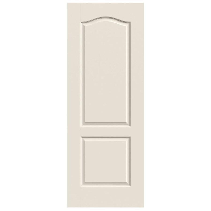 JELD-WEN Solid Core 2-Panel Arch Top Slab Interior Door (Common: 24-in x 80-in; Actual: 24-in x 80-in)