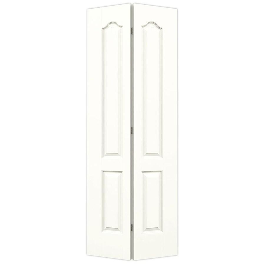 JELD-WEN Snow Storm Hollow Core 2-Panel Arch Top Bi-Fold Closet Interior Door (Common: 32-in x 80-in; Actual: 31.5-in x 79-in)