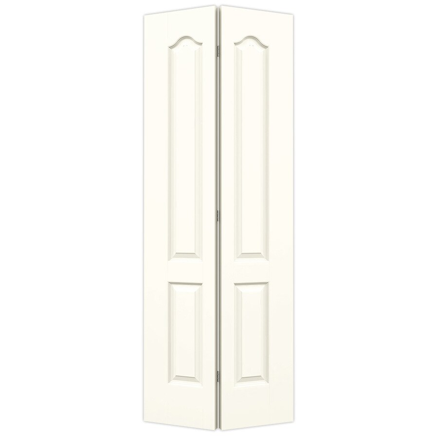JELD-WEN Moonglow Hollow Core 2-Panel Arch Top Bi-Fold Closet Interior Door (Common: 30-in x 80-in; Actual: 29.5-in x 79-in)