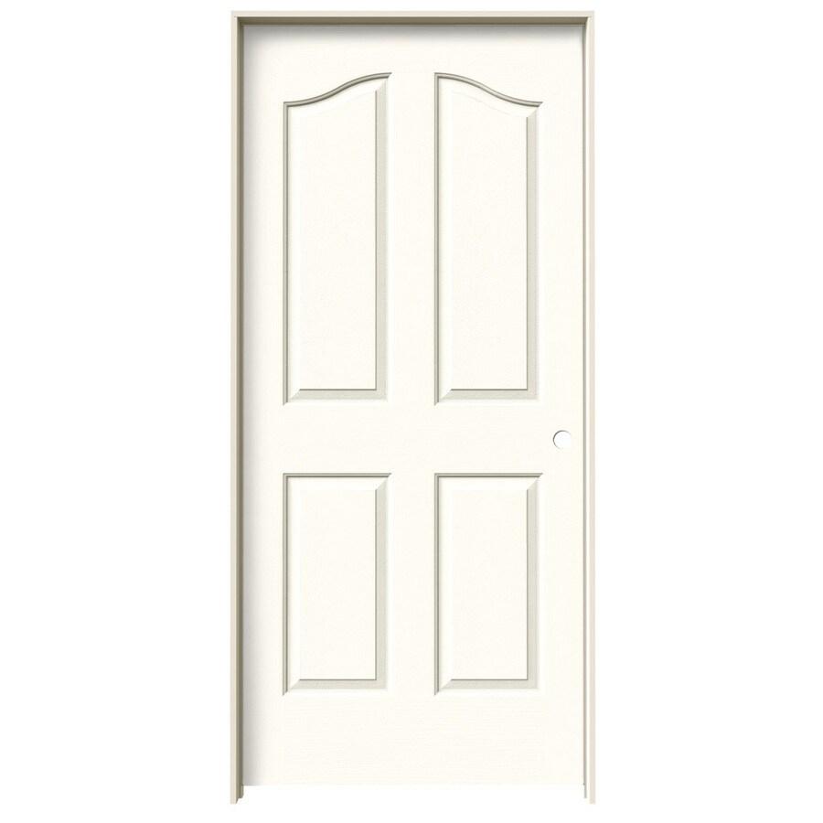 JELD-WEN Moonglow Prehung Hollow Core 4-Panel Arch Top Interior Door (Common: 36-in x 80-in; Actual: 37.562-in x 81.69-in)