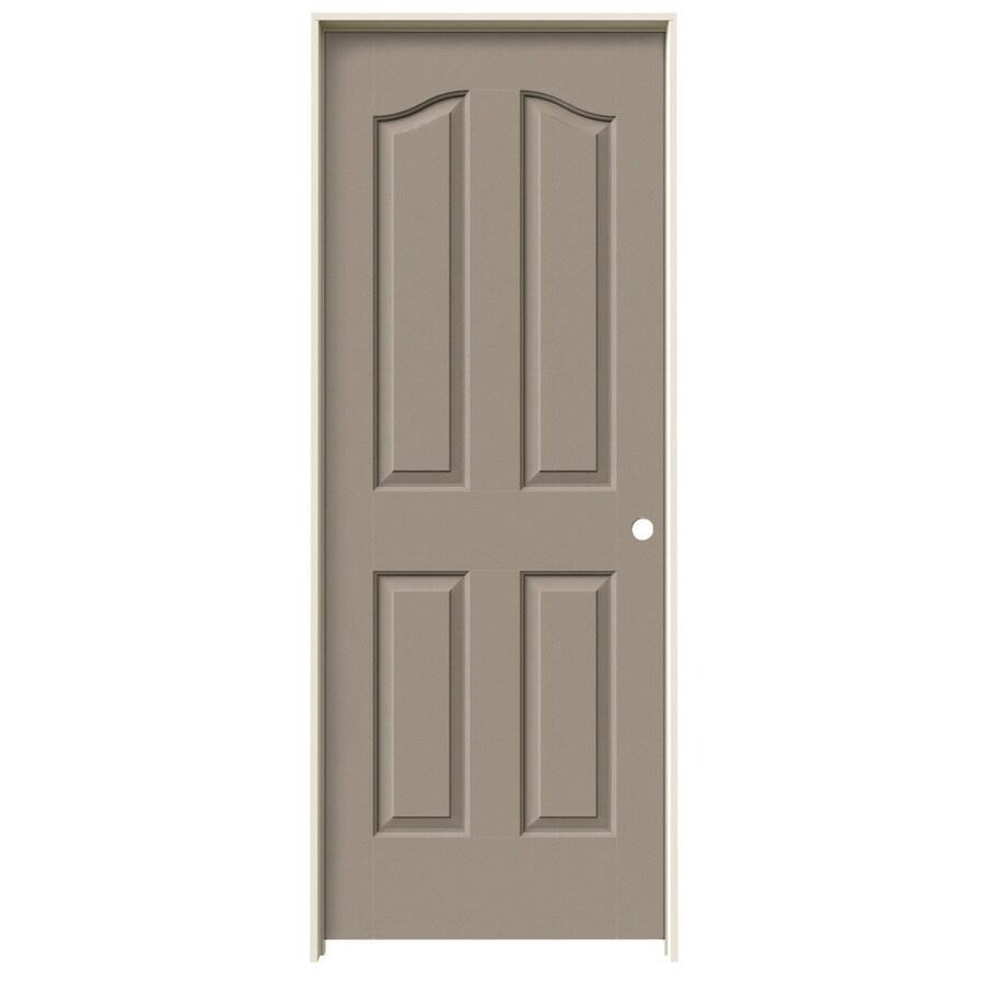 JELD-WEN Sand Piper Prehung Hollow Core 4-Panel Arch Top Interior Door (Common: 24-in x 80-in; Actual: 25.562-in x 81.69-in)