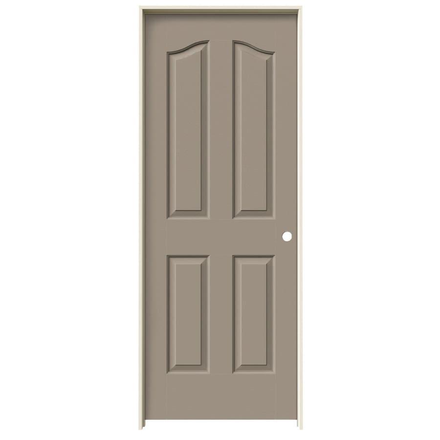 JELD-WEN Sand Piper Prehung Hollow Core 4-Panel Arch Top Interior Door (Common: 28-in x 80-in; Actual: 29.562-in x 81.69-in)