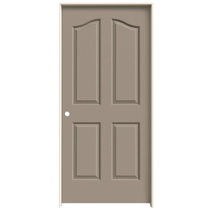 JELD-WEN Sand Piper Prehung Hollow Core 4-Panel Arch Top Interior Door (Common: 36-in x 80-in; Actual: 37.562-in x 81.69-in)