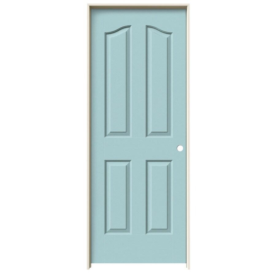JELD-WEN Sea Mist Prehung Hollow Core 4-Panel Arch Top Interior Door (Common: 32-in x 80-in; Actual: 33.562-in x 81.69-in)