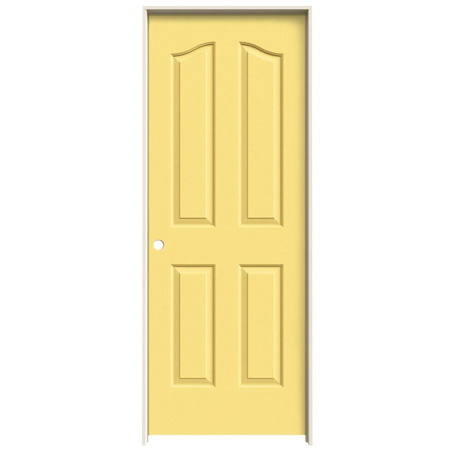 JELD-WEN Marigold Prehung Hollow Core 4-Panel Arch Top Interior Door (Common: 30-in x 80-in; Actual: 31.562-in x 81.69-in)