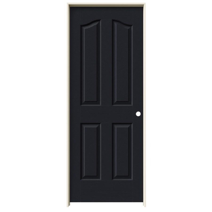 JELD-WEN Midnight Prehung Hollow Core 4-Panel Arch Top Interior Door (Common: 30-in x 80-in; Actual: 31.562-in x 81.69-in)