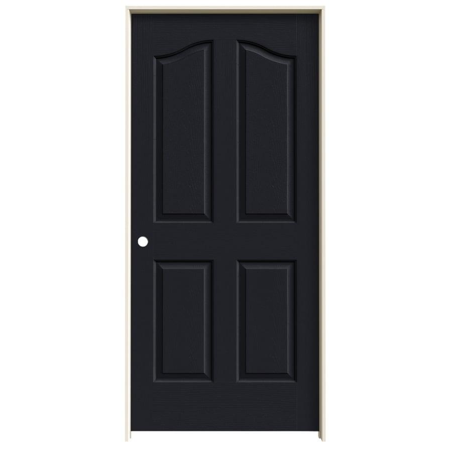 JELD-WEN Midnight Prehung Hollow Core 4-Panel Arch Top Interior Door (Common: 36-in x 80-in; Actual: 37.562-in x 81.69-in)