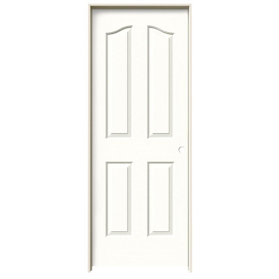 JELD-WEN Snow Storm Prehung Solid Core 4-Panel Arch Top Interior Door (Common: 28-in x 80-in; Actual: 29.562-in x 81.69-in)