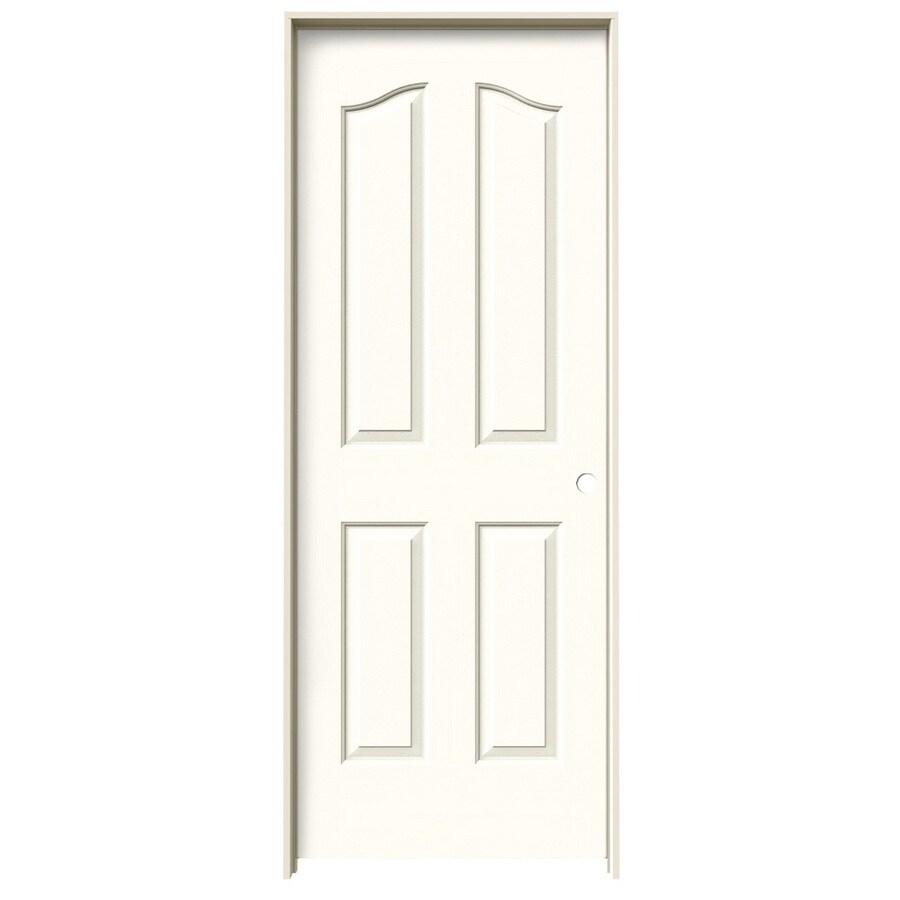 JELD-WEN Moonglow Prehung Solid Core 4-Panel Arch Top Interior Door (Common: 32-in x 80-in; Actual: 33.562-in x 81.69-in)