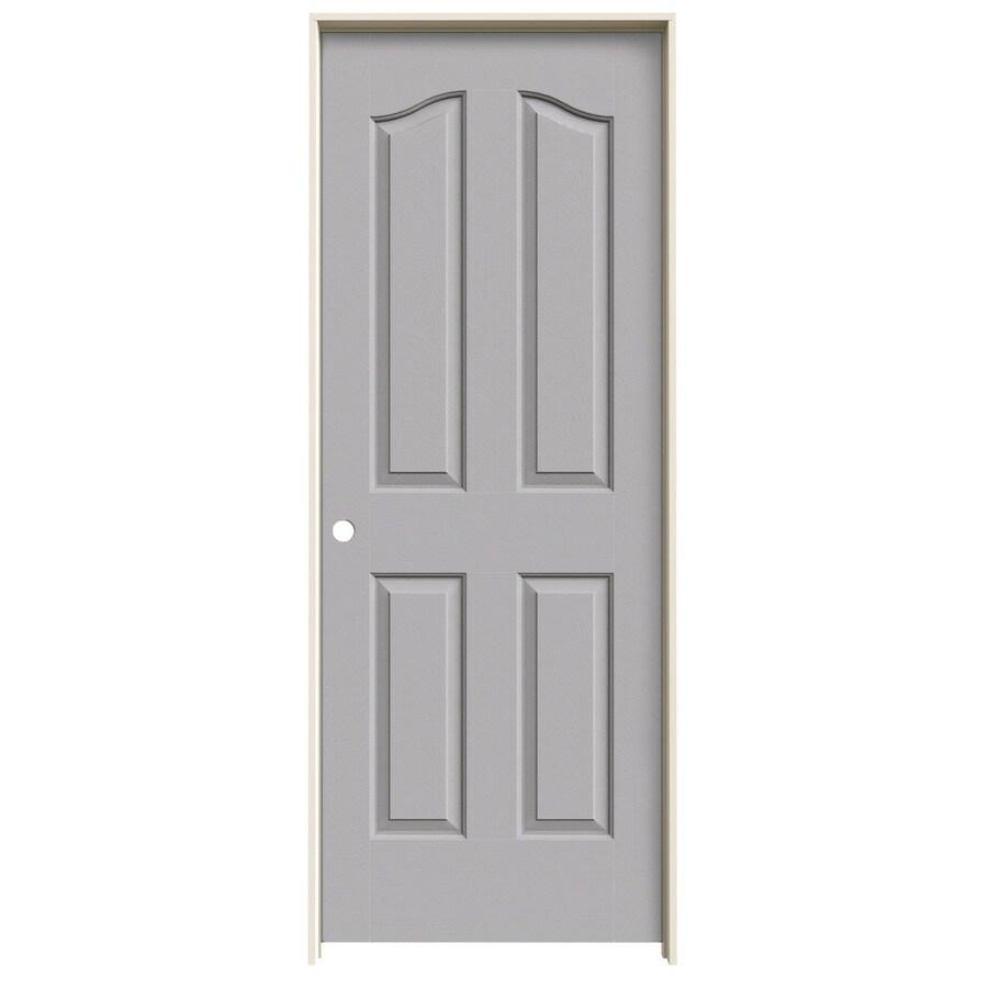 JELD-WEN Driftwood Prehung Solid Core 4-Panel Arch Top Interior Door (Common: 24-in x 80-in; Actual: 25.562-in x 81.69-in)