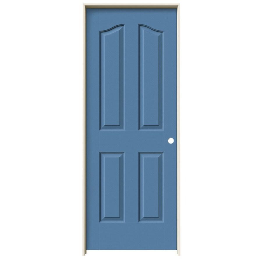 JELD-WEN Blue Heron Prehung Solid Core 4-Panel Arch Top Interior Door (Common: 30-in x 80-in; Actual: 31.562-in x 81.69-in)