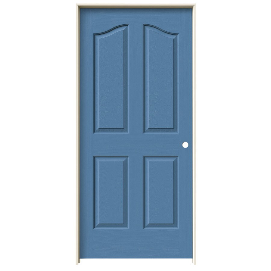 JELD-WEN Blue Heron Prehung Solid Core 4-Panel Arch Top Interior Door (Common: 36-in x 80-in; Actual: 37.562-in x 81.69-in)