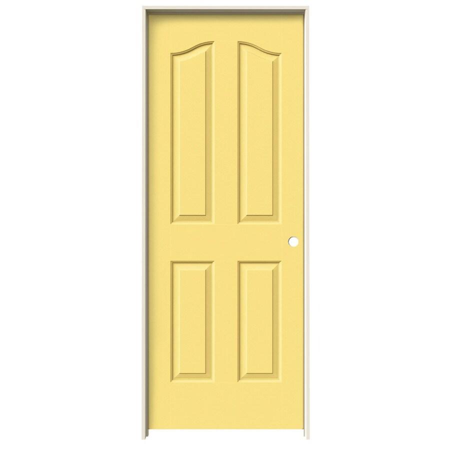 JELD-WEN Marigold Prehung Solid Core 4-Panel Arch Top Interior Door (Common: 28-in x 80-in; Actual: 29.562-in x 81.69-in)