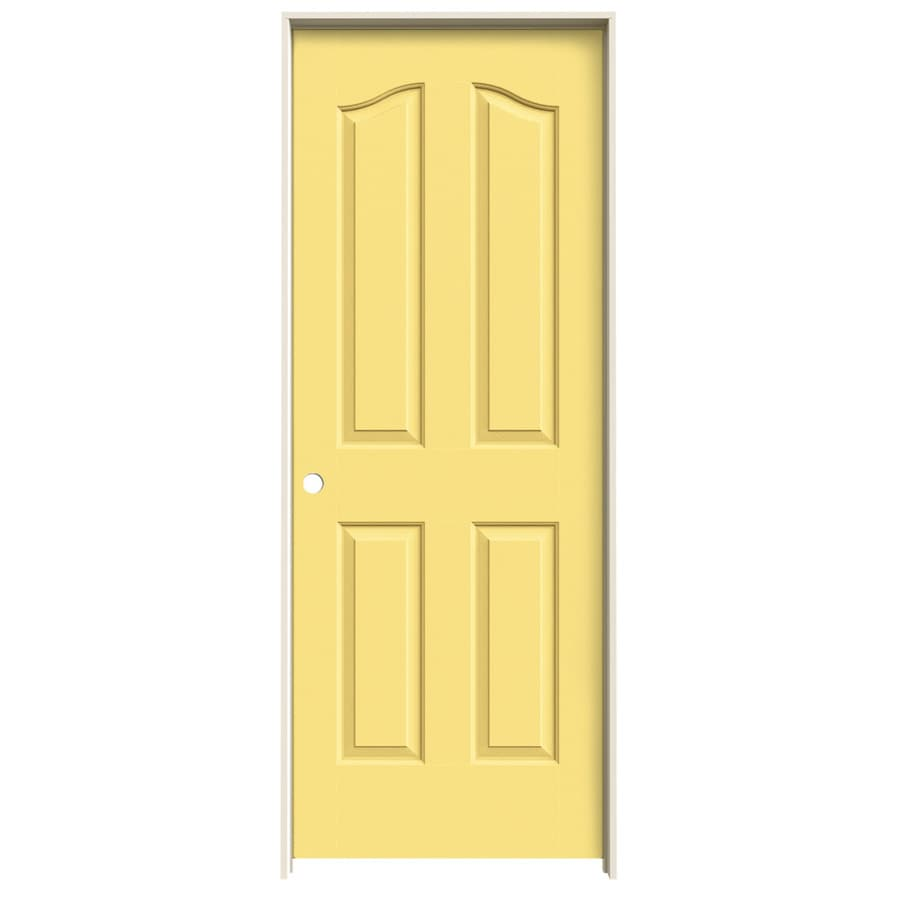 JELD-WEN Marigold Prehung Solid Core 4-Panel Arch Top Interior Door (Common: 32-in x 80-in; Actual: 33.562-in x 81.69-in)
