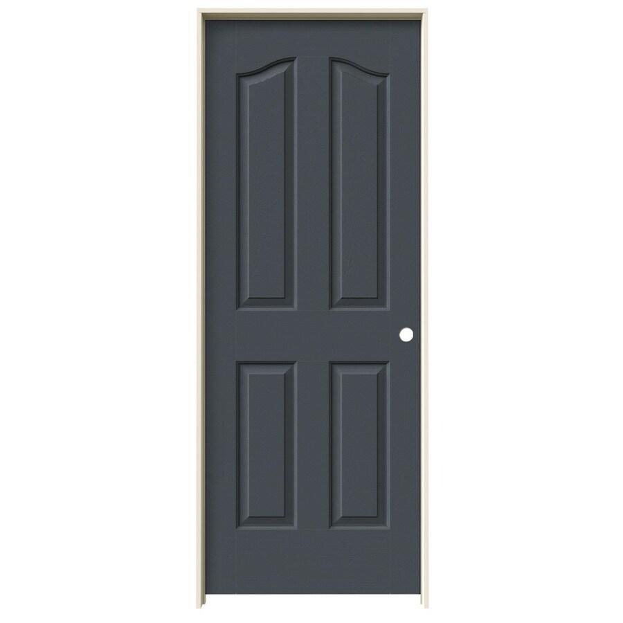 JELD-WEN Slate Prehung Solid Core 4-Panel Arch Top Interior Door (Common: 24-in x 80-in; Actual: 25.562-in x 81.69-in)