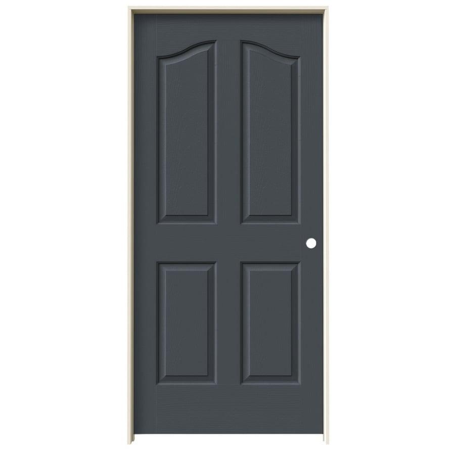 JELD-WEN Slate Prehung Solid Core 4-Panel Arch Top Interior Door (Common: 36-in x 80-in; Actual: 37.562-in x 81.69-in)