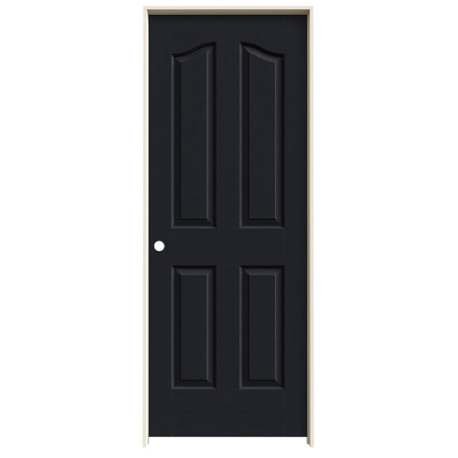 JELD-WEN Midnight Prehung Solid Core 4-Panel Arch Top Interior Door (Common: 30-in x 80-in; Actual: 31.562-in x 81.69-in)