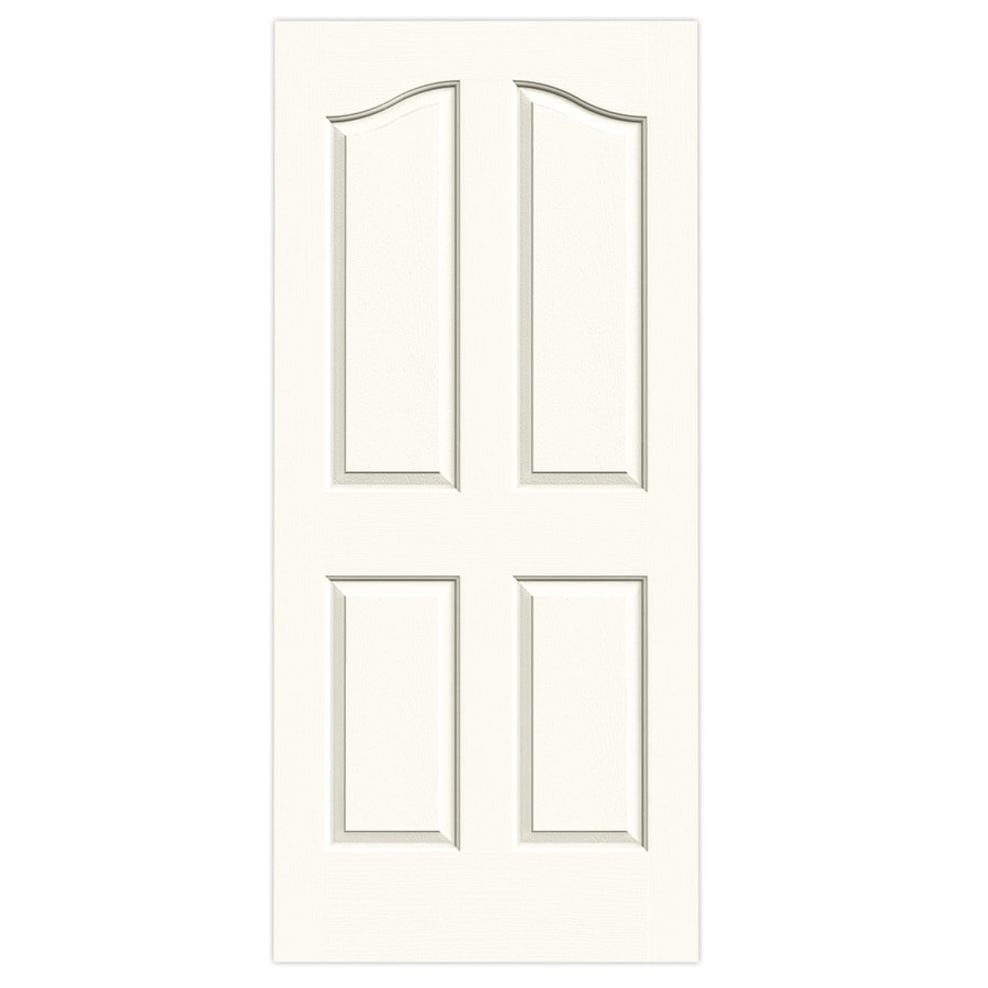 JELD-WEN White Solid Core 4-Panel Arch Top Slab Interior Door (Common: 36-in x 80-in; Actual: 36-in x 80-in)