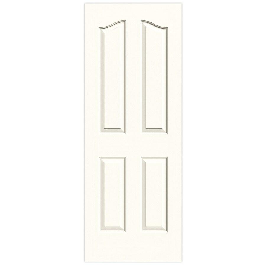 JELD-WEN Moonglow Solid Core 4-Panel Arch Top Slab Interior Door (Common: 32-in x 80-in; Actual: 32-in x 80-in)
