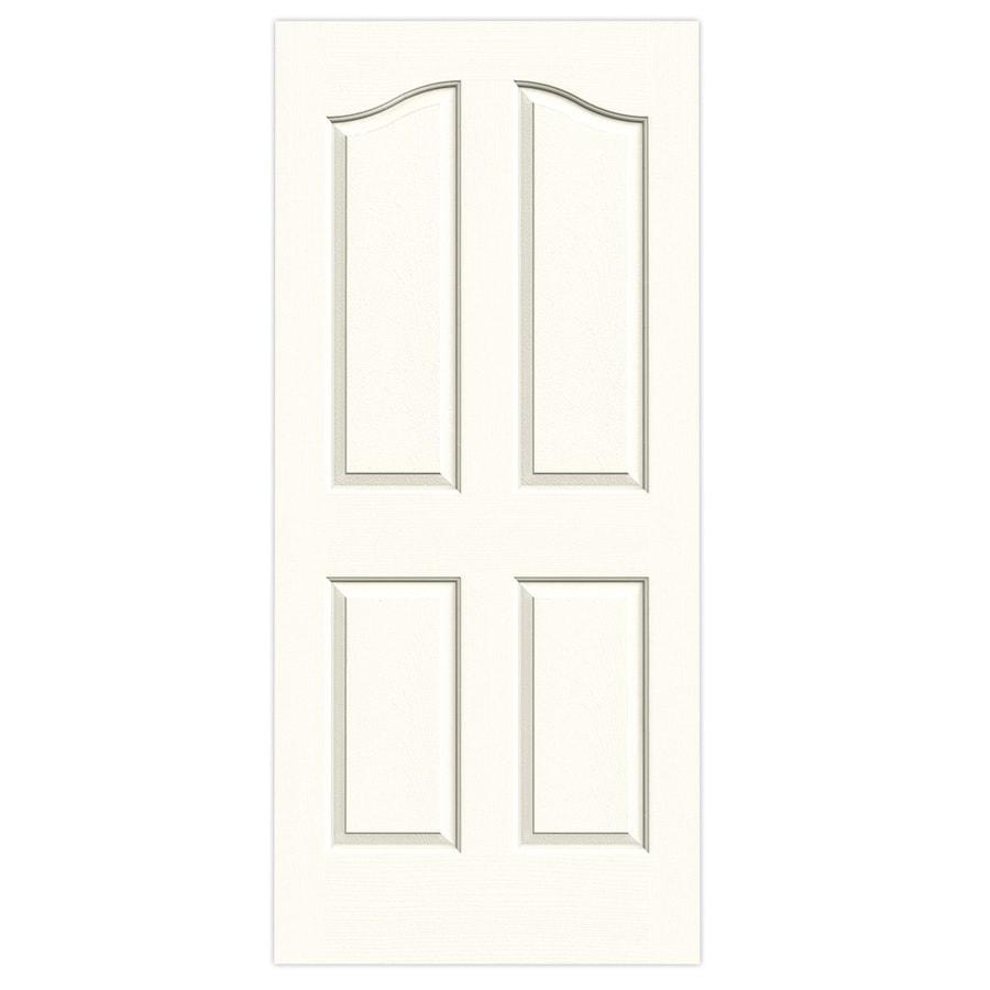 JELD-WEN Moonglow Solid Core 4-Panel Arch Top Slab Interior Door (Common: 36-in x 80-in; Actual: 36-in x 80-in)