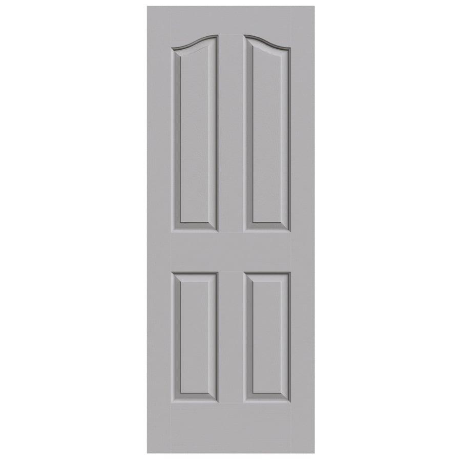 JELD-WEN Driftwood Solid Core 4-Panel Arch Top Slab Interior Door (Common: 28-in x 80-in; Actual: 28-in x 80-in)